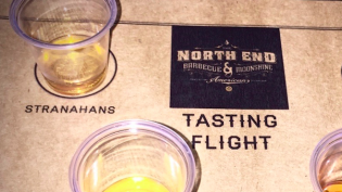 Whiskey Tasting at North End BBQ.